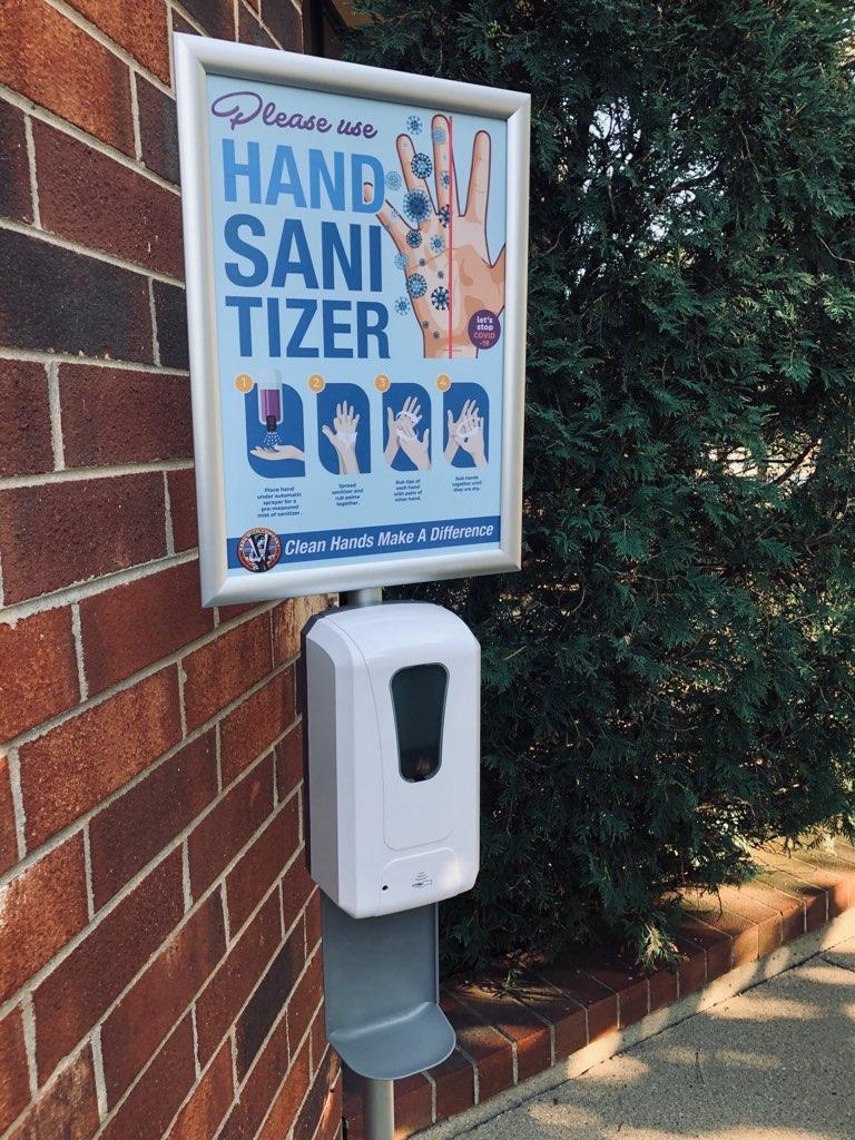Hand Sanitizer Station with Sign Frame