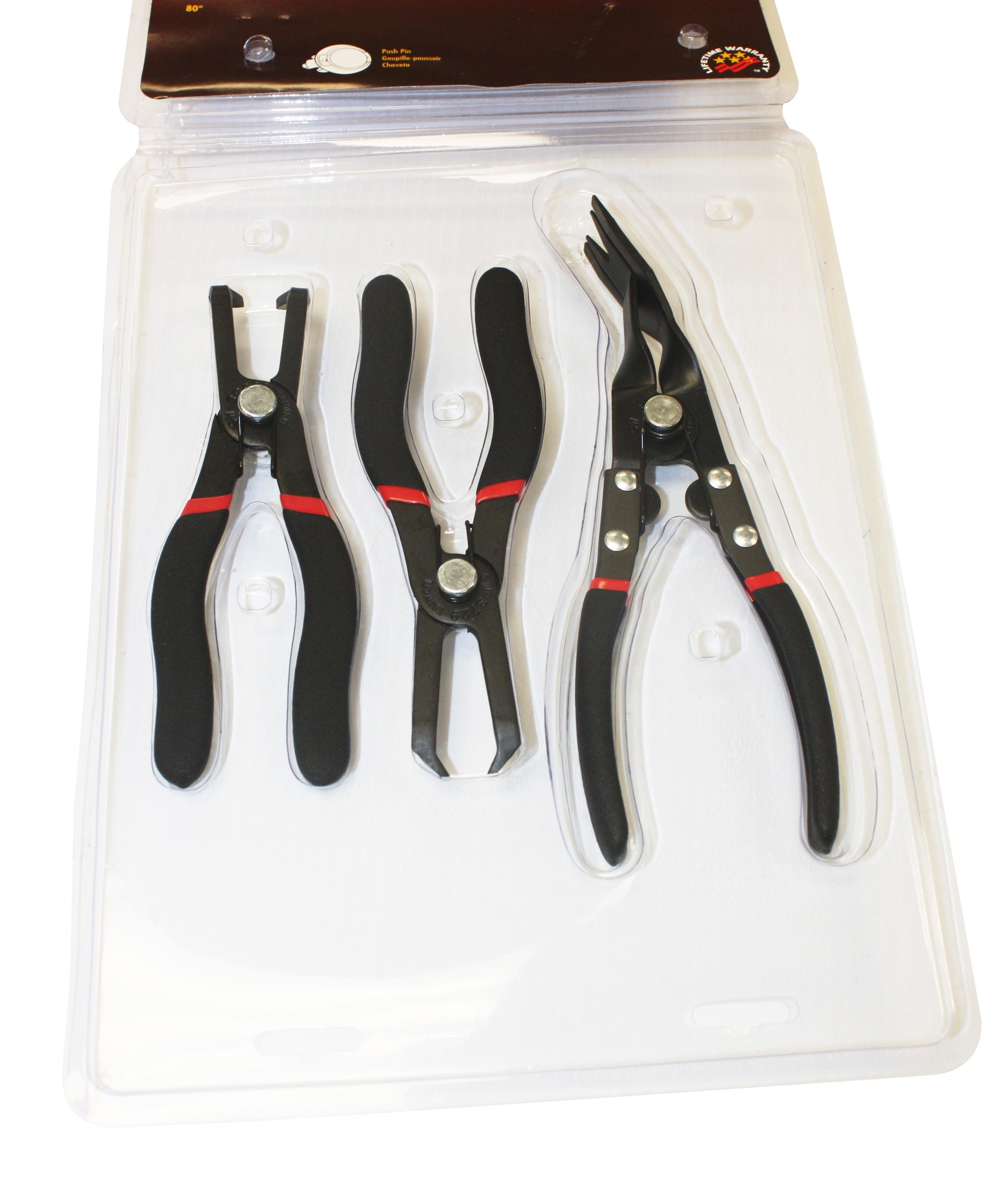 Body Clip Pliers 3 Piece Kit