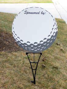 Corrugated Plastic Golf Sign