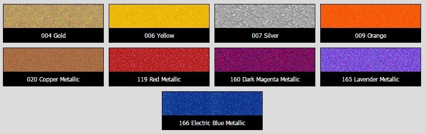 9107 Series 3.5 mil Lumina Heat Transfer Film Hot Metallic