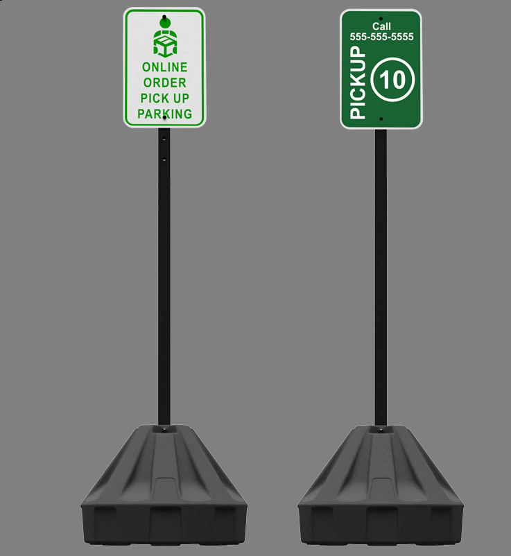 Roll-A-Post 24'' Portable Post Sign Stand